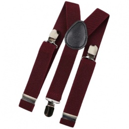 Baby / Toddler Burgundy Y-Back Adjustable Braces