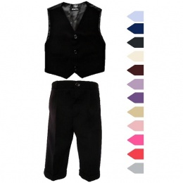 Boys Black 3 Piece Formal Occasion Classic Suit
