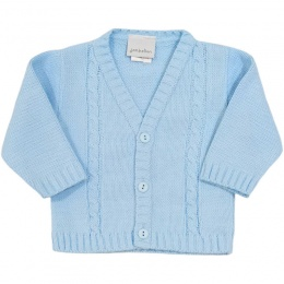 Baby Boys Blue Cable Knit Cardigan