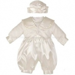 Baby Boys Ivory Christening Romper Tails Outfit