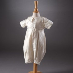 Bobbie by Millie Grace - Baby Boys Ivory Christening Romper