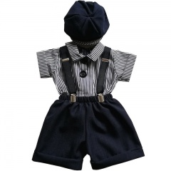 Baby Boys Navy Shorts Suit with Navy Braces