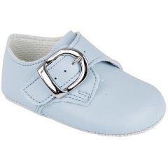 Baby Boys Sky Blue Matt Buckle Pram Shoes 'Baypods'