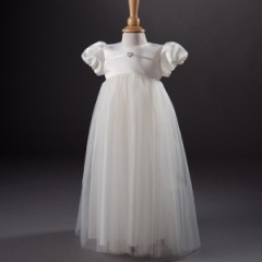 Baby Girls Millie Grace 'Cherry' Christening Gown & Bonnet