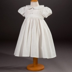 Baby Girls Millie Grace 'Tia' Linen Look Cotton Dress
