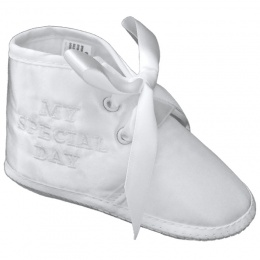 Baby Boys White Satin My Special Day Pram Shoes