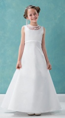Emmerling White Communion Dress - Style Barbara