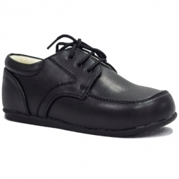 Boys Shoe Black Brogue Oxford Lace Up Wedding Formal Infant 10 Large Boy 5.5