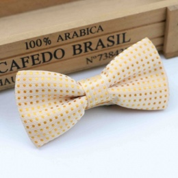 Boys Gold Polka Dot Bow Tie with Adjustable Strap