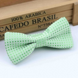 Boys Mint Polka Dot Bow Tie with Adjustable Strap