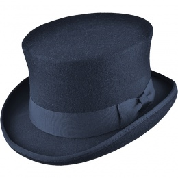 b5d7d3fe23c Boys Navy Premium Wool Classic Top Hat