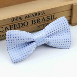 Boys Pale Blue Polka Dot Bow Tie with Adjustable Strap