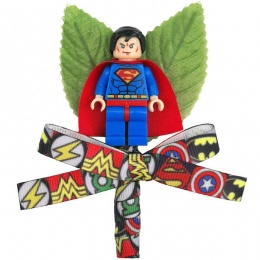 Boys Superman Buttonhole with Superhero Ribbon