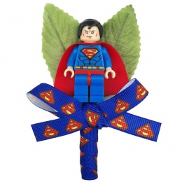 Boys Superman Figure & Ribbon Buttonhole