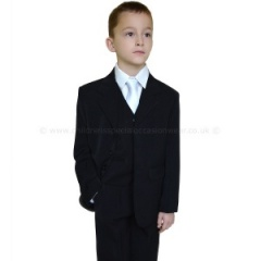 Boys Black 1st Holy Communion 5 Piece Classic Suit