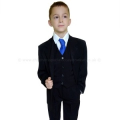 Boys Black 5 Piece Holy Communion Suit