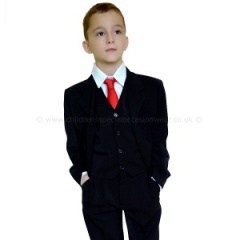 Boys Black Classic 5 Piece Communion Suit