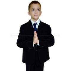 Boys Black First Holy Communion 5 Piece Classic Suit