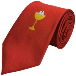 Boys Red Chalice First Holy Communion Tie