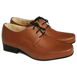 Boys Brown Matt Formal Shoes - William