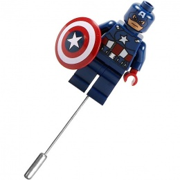 Captain America Superhero Mini Figure Buttonhole Lapel Pin