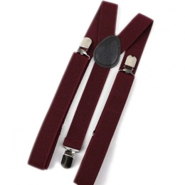 Children's Burgundy Y-Back Adjustable Braces