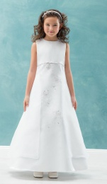 Emmerling White Communion Dress - Style Chloe