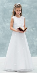 Emmerling White Communion Dress - Style 77719