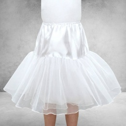 Girls White Two Layer Underskirt / Petticoat