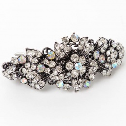 Girls Sparkly Crystal Flower Barrette Hair Clip