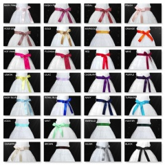 Double Sided Satin Flower Girl Sash - Various Colours