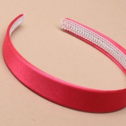 Girls Hot Pink Plain Satin Alice Head Band 2cm