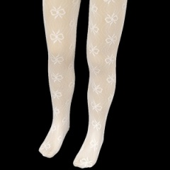 Girls Ivory Nottingham Lace Christening Wedding Tights