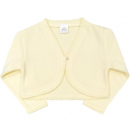 Girls Lemon 100% Cotton Long Sleeved Bolero
