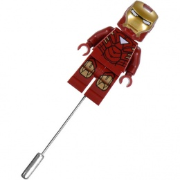 Iron Man Superhero Mini Figure Buttonhole Lapel Pin