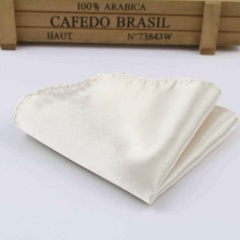 Boys Ivory Satin Pocket Square Handkerchief