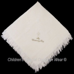 Ivory Baby Star My Christening Day Cross Shawl