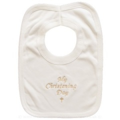 Ivory Cotton My Christening Day Bib