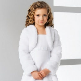 Girls Minx Faux Fur Jacket by Lacey Bell Style CJ14