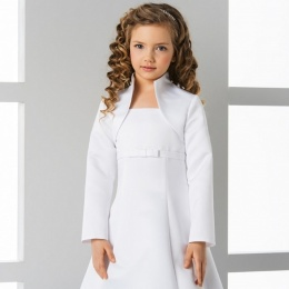 Girls High Neck Satin Long Sleeved Bolero by Lacey Bell Style CJ81