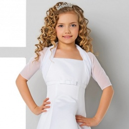 Girls Tulle Half Sleeve Bolero by Lacey Bell Style CJ141