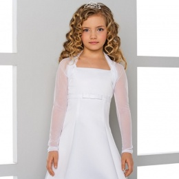 Girls Tulle Long Sleeve Bolero by Lacey Bell Style CJ70