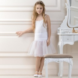 Girls Tea Length Underskirt by Lacey Bell Style CP3