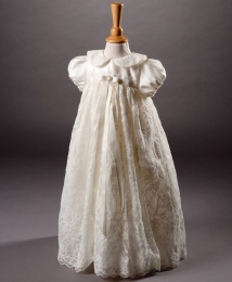 Miley by Millie Grace - Baby Girls Ivory Lace Christening Gown & Bonnet