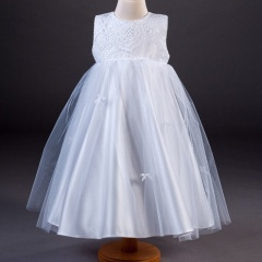 Girls Millie Grace Abigail Bow, Lace & Organza Dress