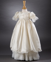 Ruby by Millie Grace - Ivory Lace & Silk Christening Gown & Bonnet
