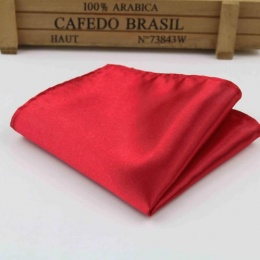 Boys Red Satin Pocket Square Handkerchief