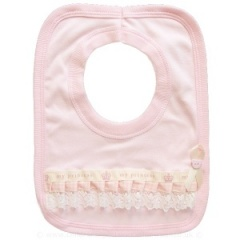 Pink Cotton & Lace My Princess Bib