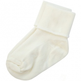 Boys Ivory Plain Soft Ankle Socks
