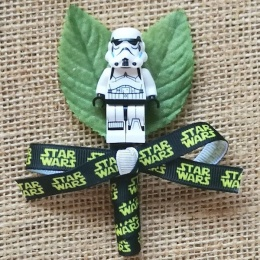 Boys Stormtrooper Figure & Star Wars Ribbon Buttonhole
